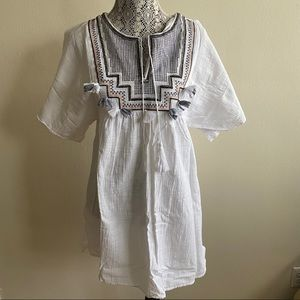 JCrew White Cotton Beach Tunic Sz S